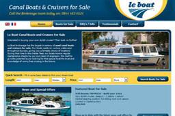 Meglerforretning med kanalbåter fra Le Boat