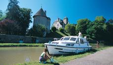 Husbåtferie i Frankrike